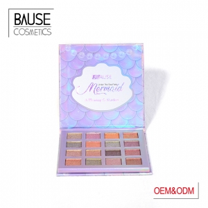 metallic paper box eyeshadow palette